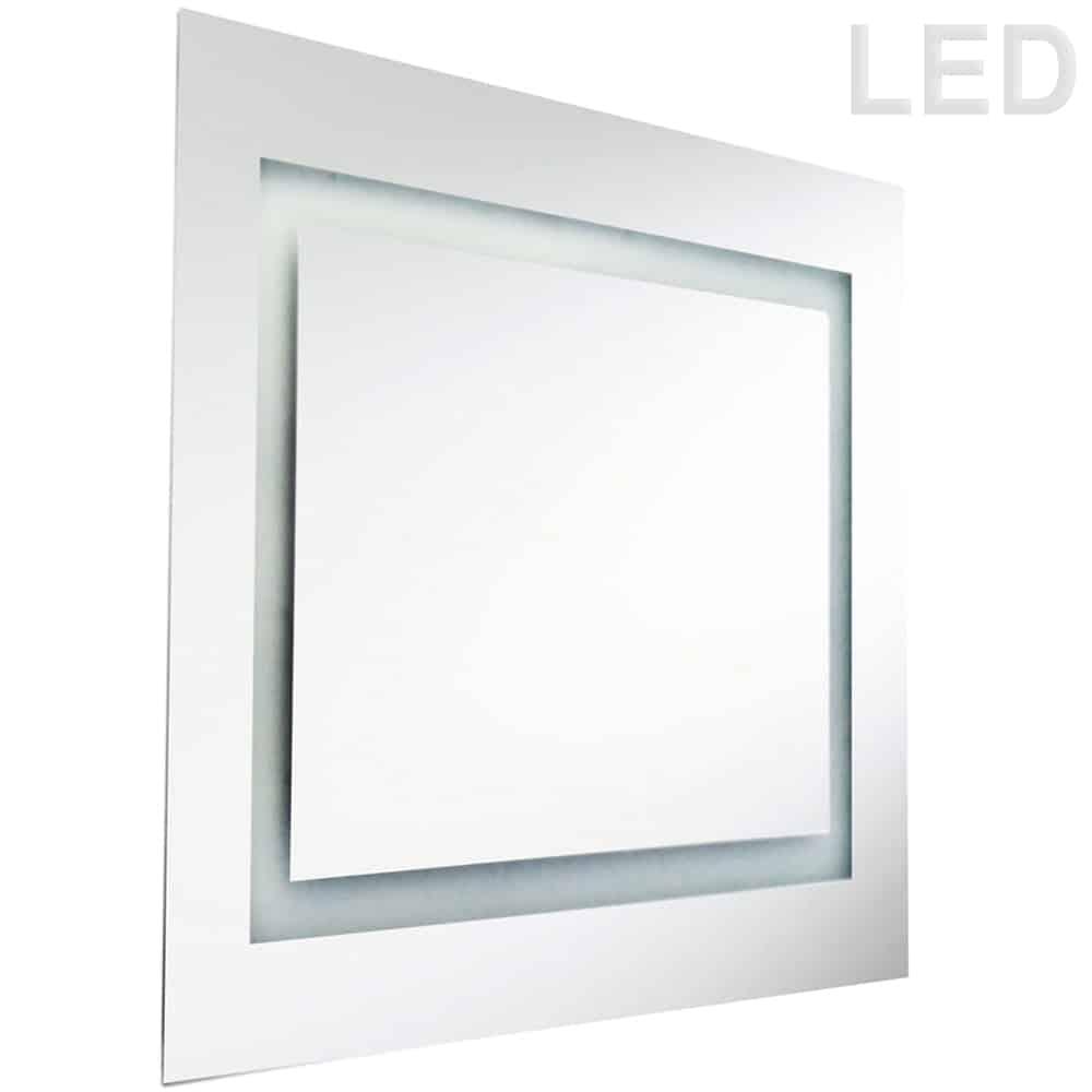 48 Watt 40 x 40 Inch Square Mirror, Inside Illuminated