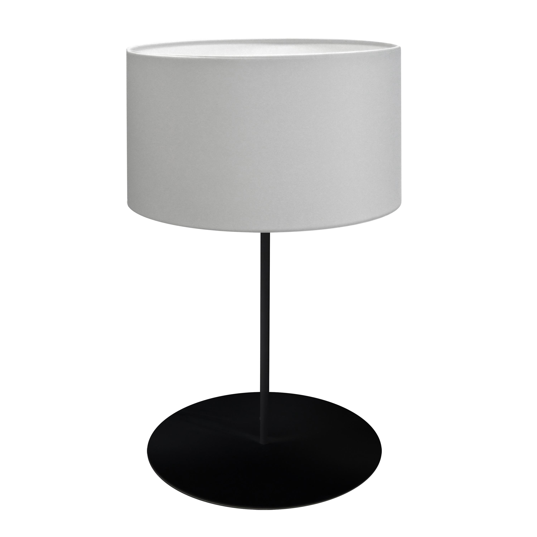 1LT Drum Table Lamp, w/ JTone White Shade, MB