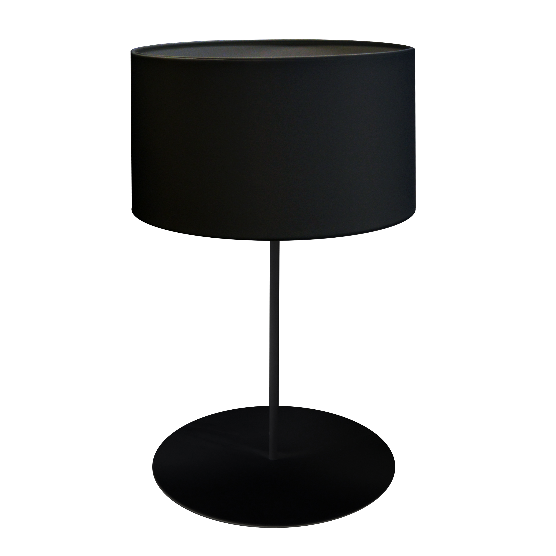 1LT Drum Table Lamp, w/ JTone Black Shade, MB