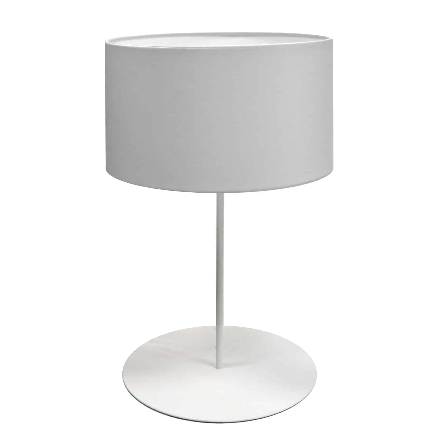 1 Light Drum Table Lamp with JTone White Shade