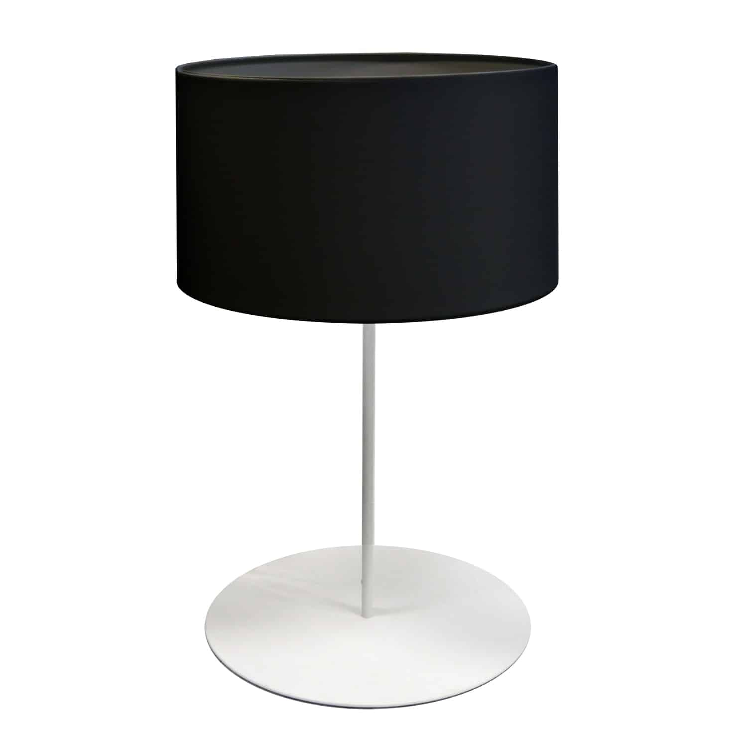 1 Light Drum Table Lamp with JTone Black Shade