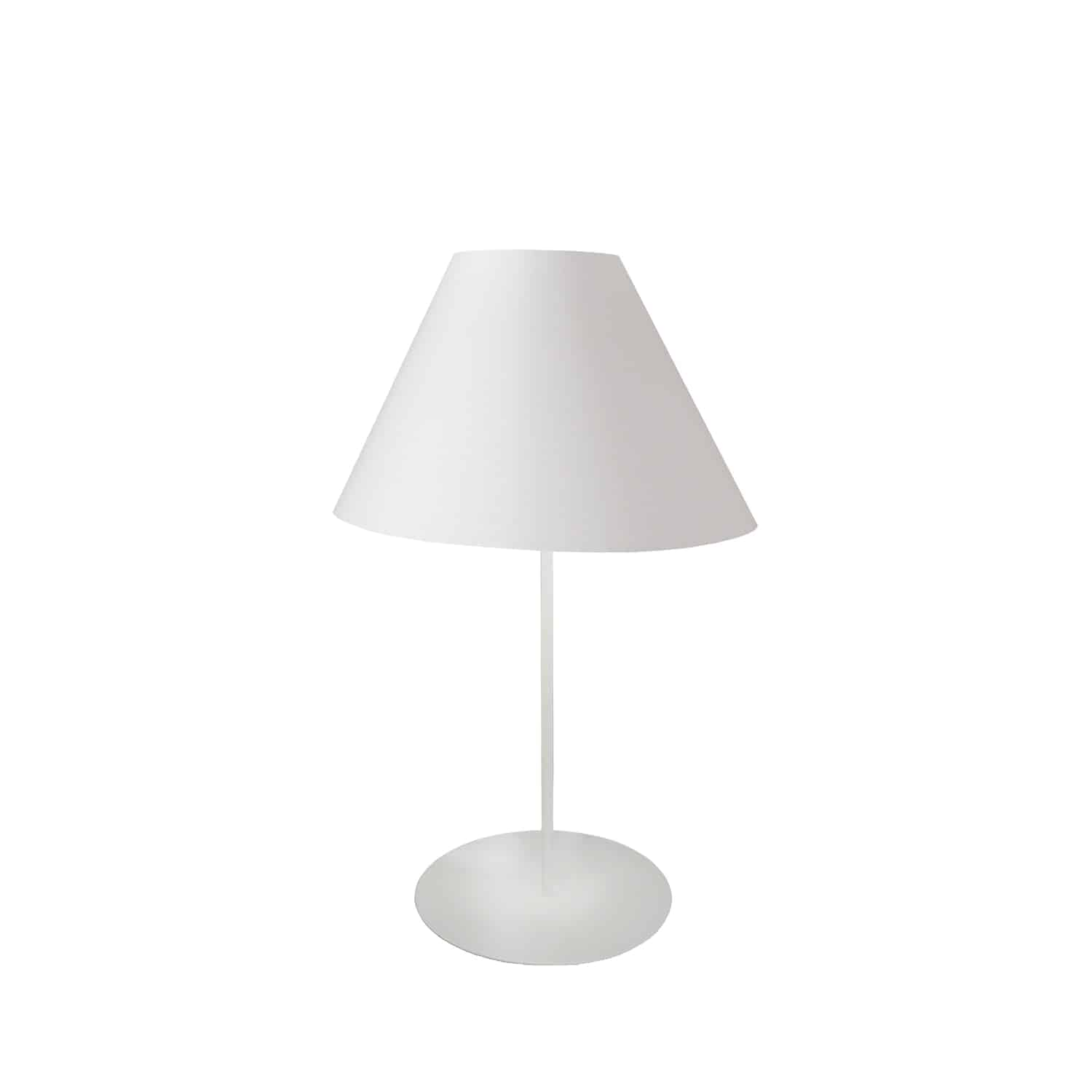 1 Light Tapered Table Lamp with White Shade