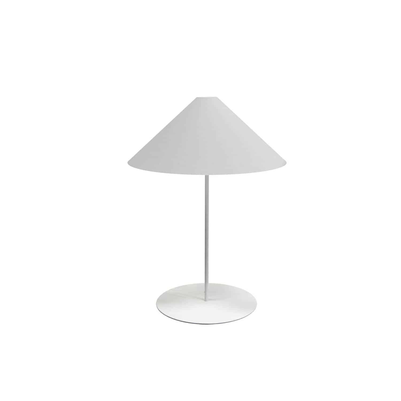 1LT Slope Table Lamp White Shade White