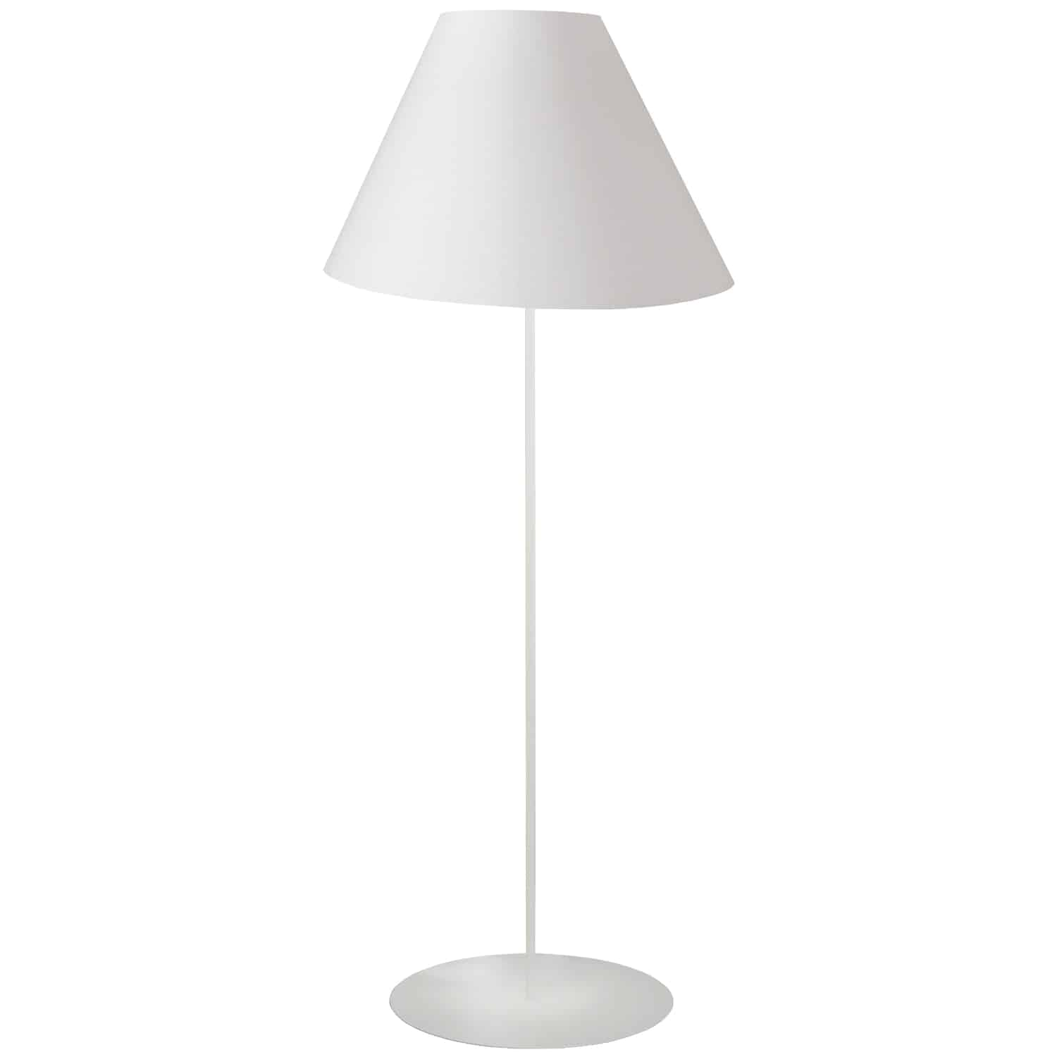 1LT Tapered Floor Lamp w/ White Shade