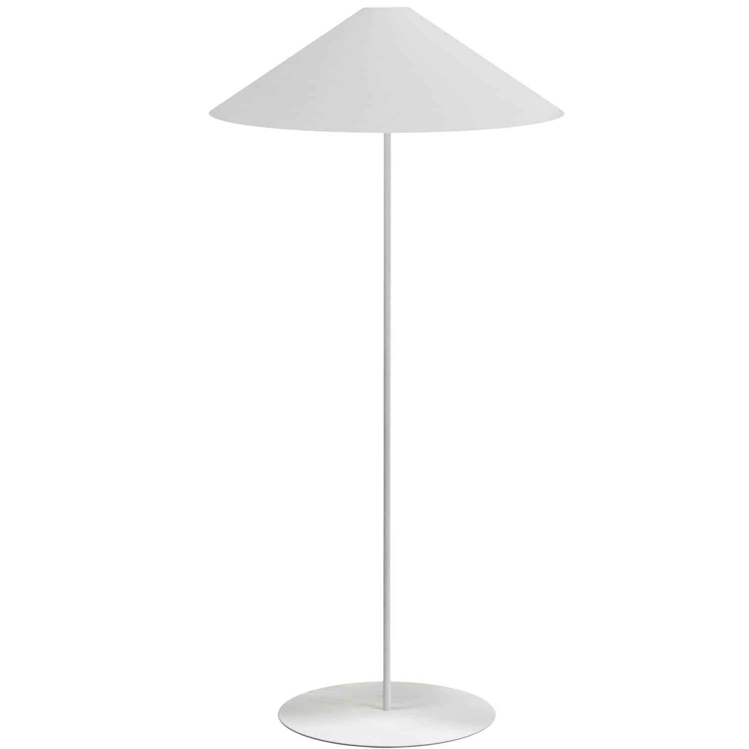 1 Light Trapezoid Floor Lamp w/ White Shade