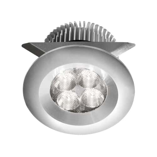 """Aluminum 2x4W 3000K, CRI80+, 25° beam, 24VDC input with Male Connector, 18"""" Lead wire, D70xH50 mm, Dimmable."""