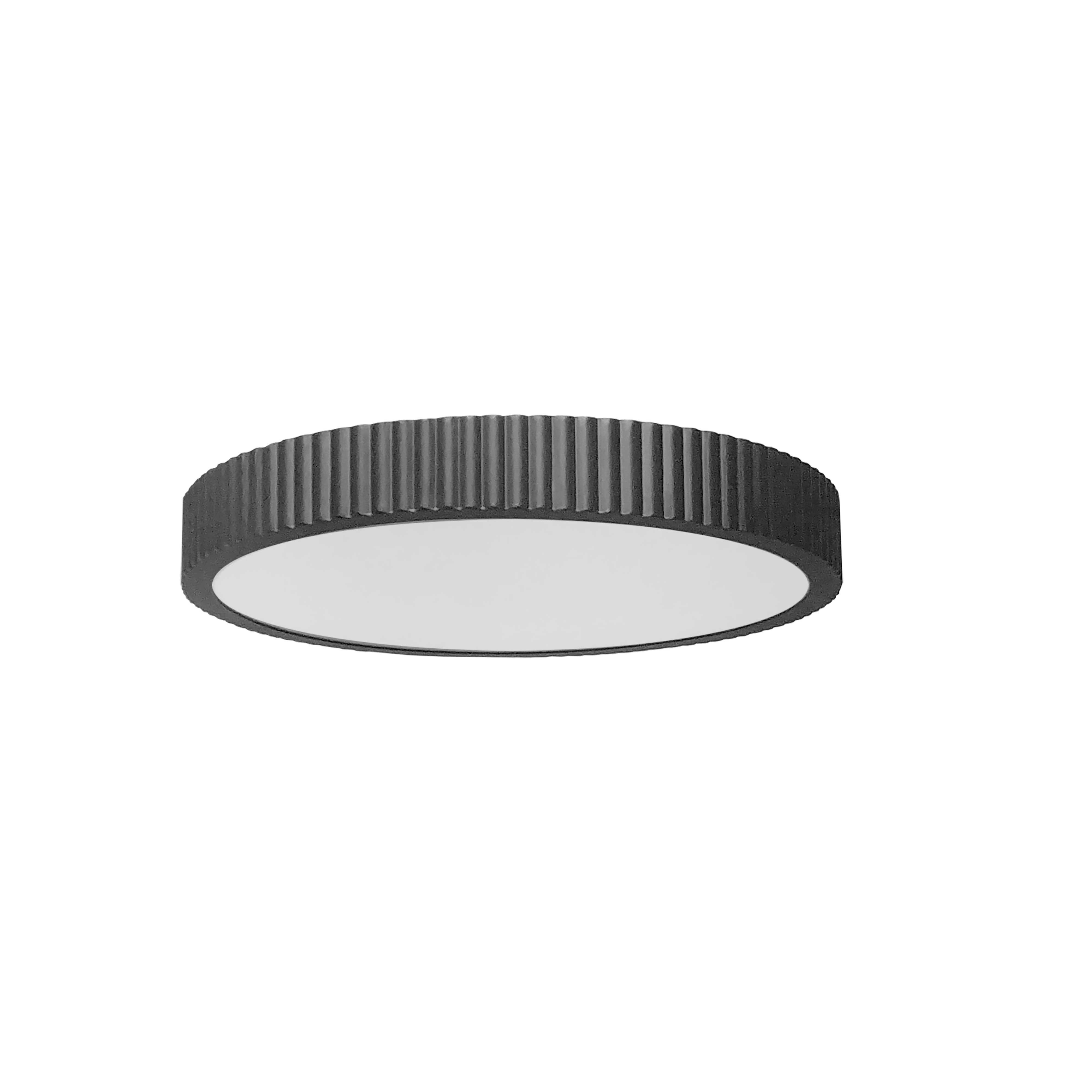 30W LED Flush mount, Matte Black with White Acrylic Diffuser