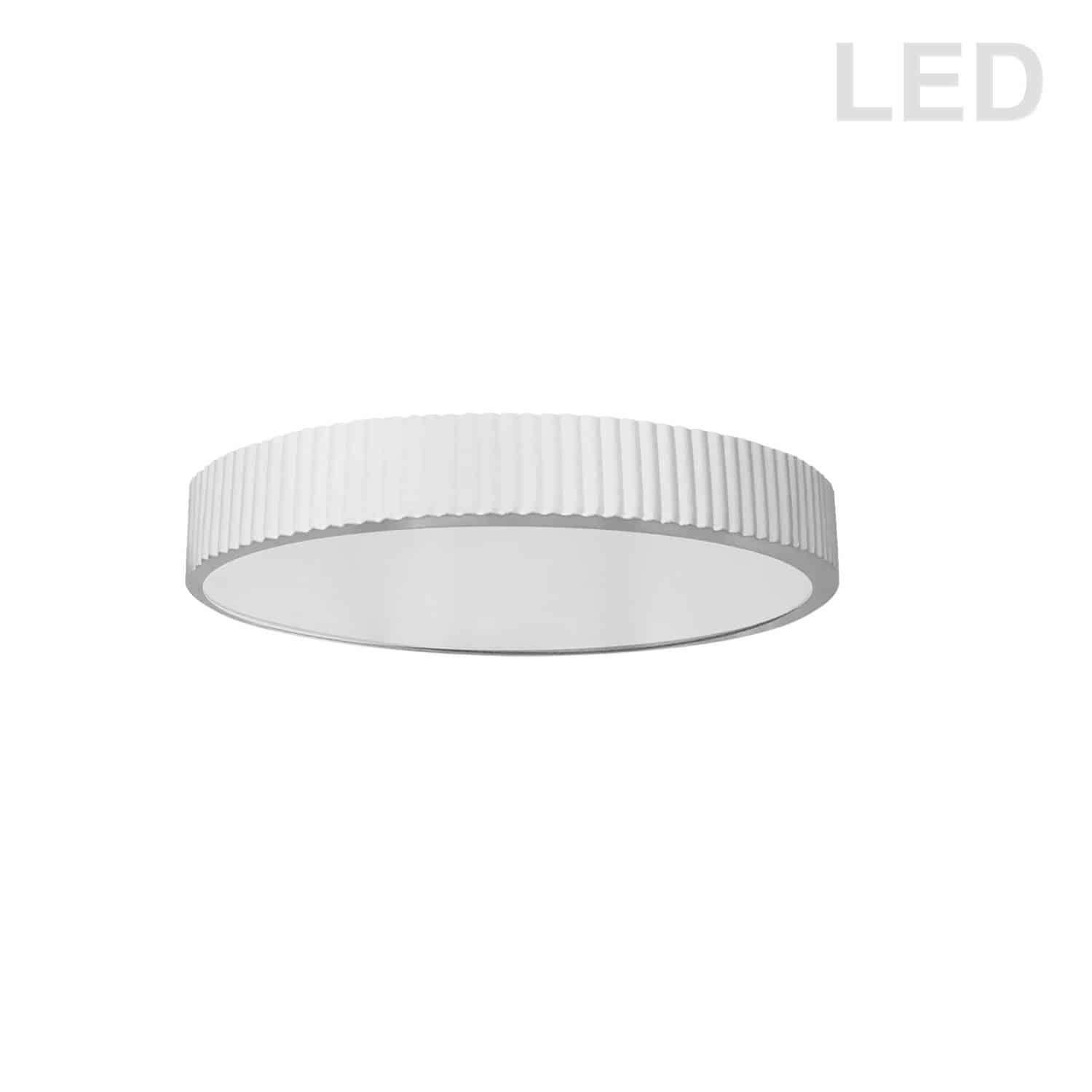 30W LED Flush mount, Matte White with White Acrylic Diffuser