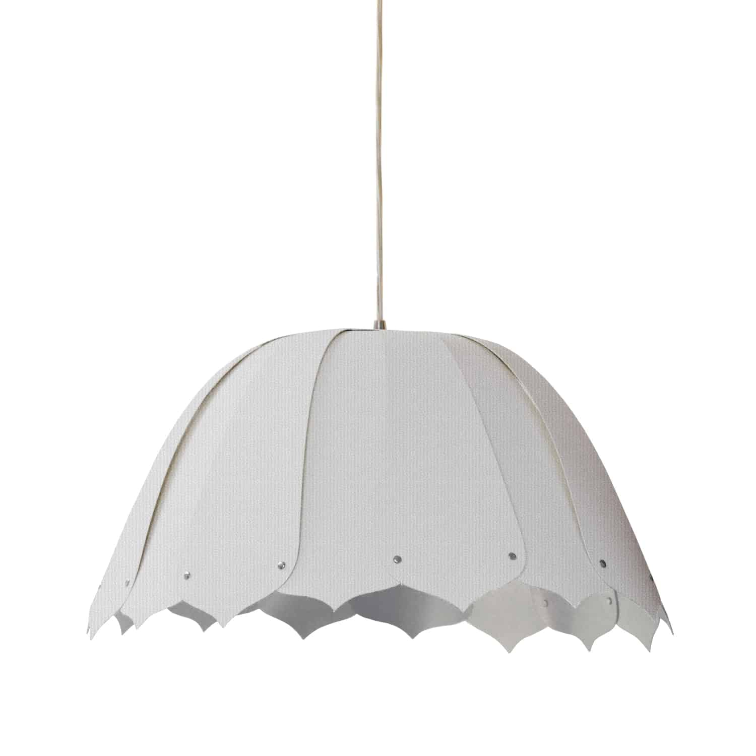 1 Light Noa Pendant Camelot White Polished Chrome