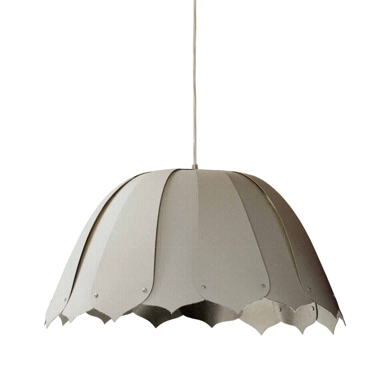 1 Light Noa Pendant Camelot Grey Small Polished Chrome