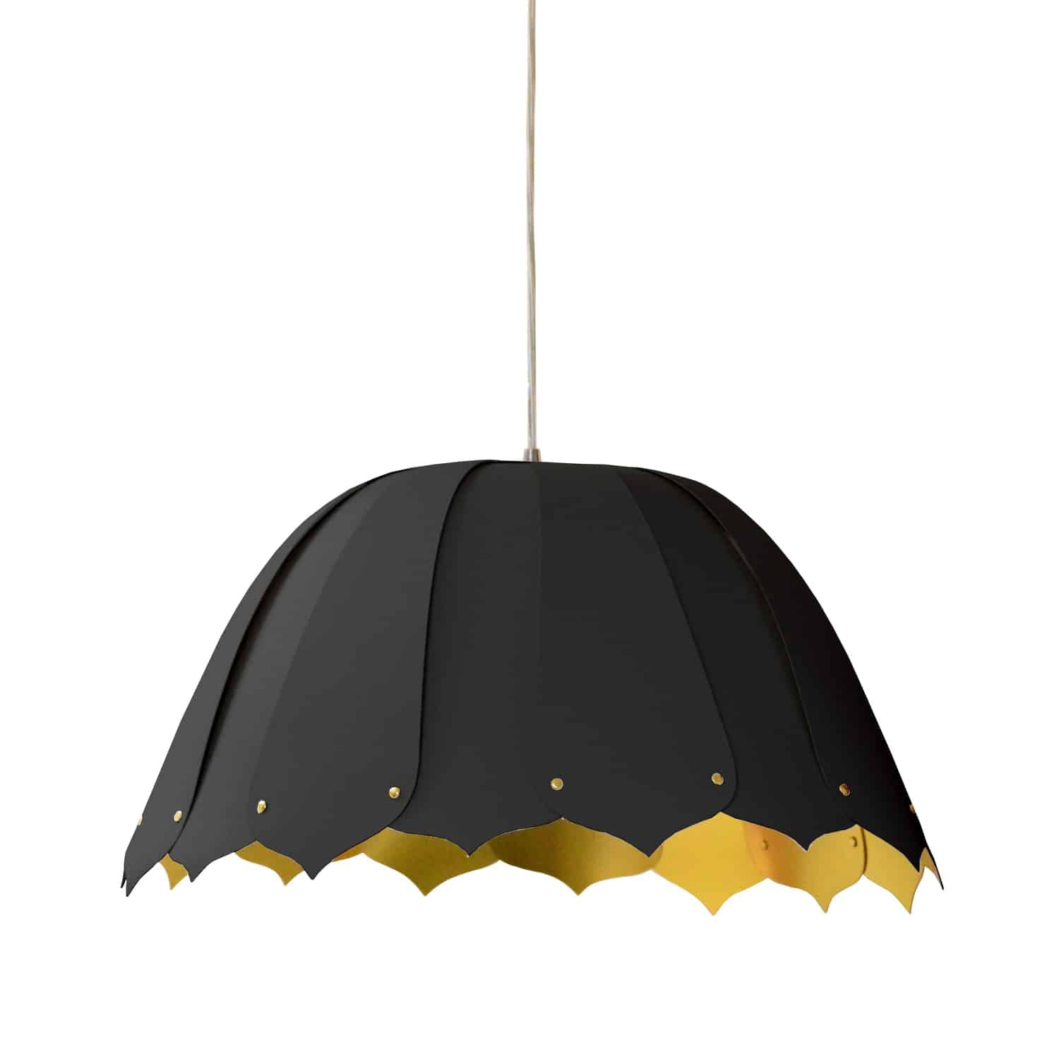 1 Light Noa Pendant JTone Black Gold Small Black