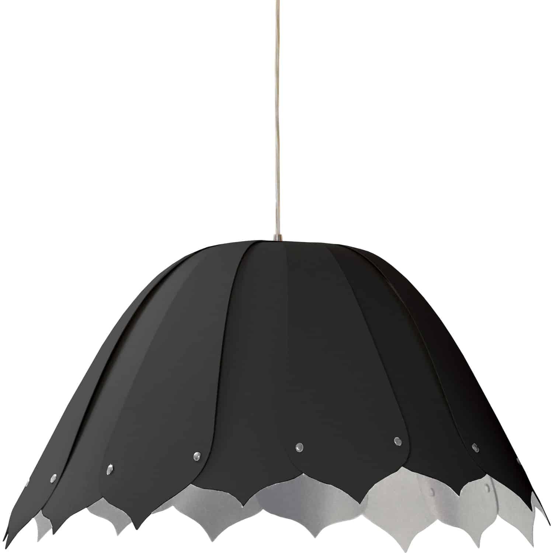 1 Light Noa Pendant JTone Black on Silver Medium Polished Chrom