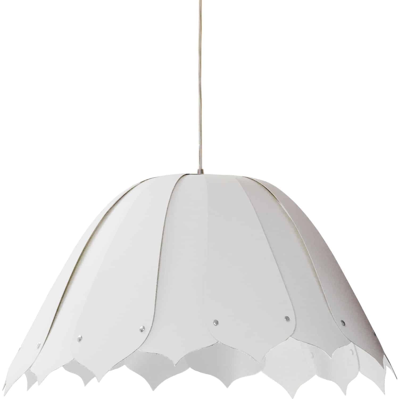 1 Light Noa Pendant JTone White, Medium, Polished Chrome