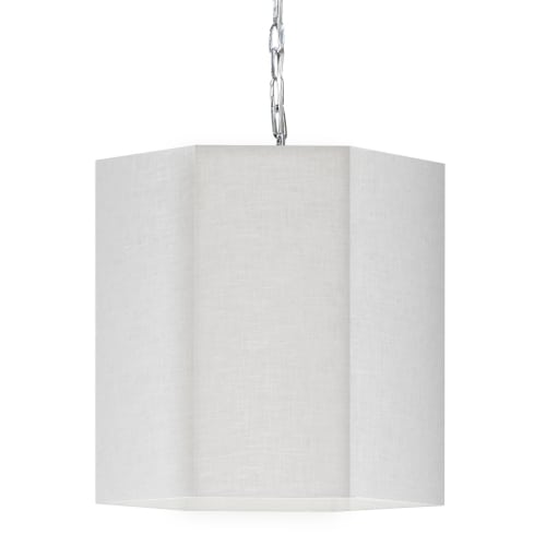 1 Light Incandescent Polished Chrome Pendant w/ White/Clear Shade