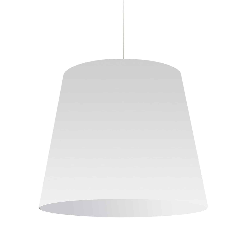 1 Light Oversized Drum Pendant Large White Shade