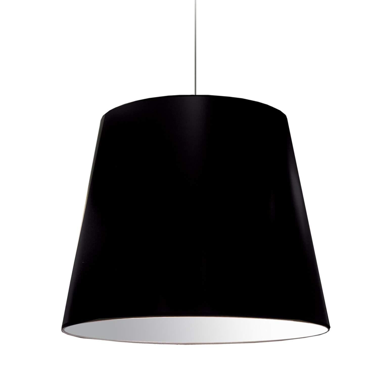 1 Light Oversized Drum Pendant Large Black Shade