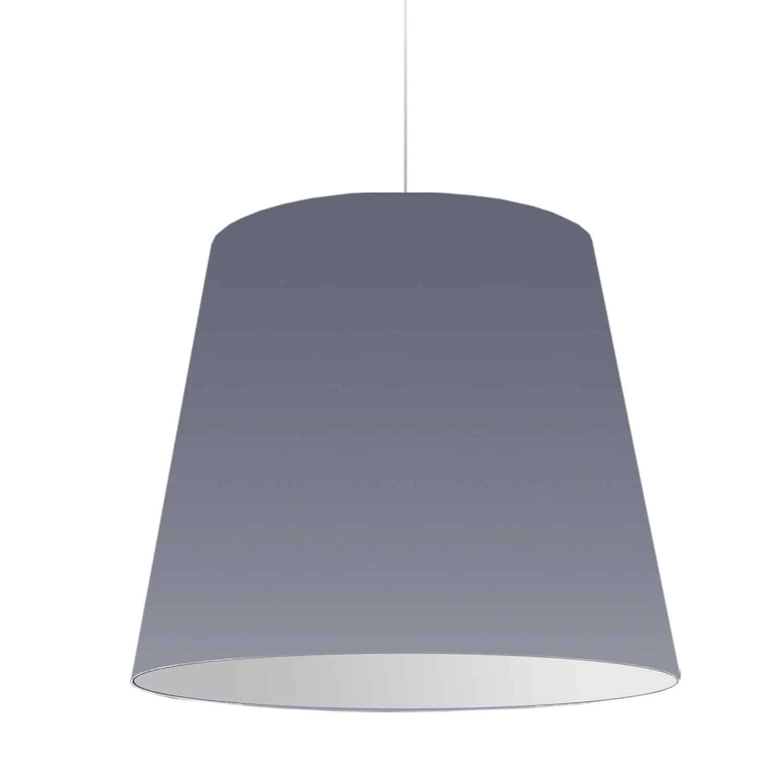 1 Light Oversized Drum Pendant Large Grey Shade