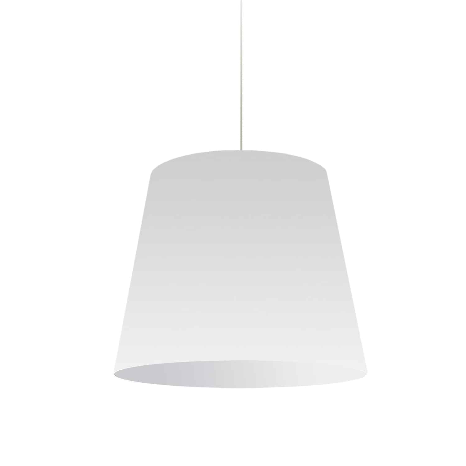 1 Light Oversized Drum Pendant Medium Wht Shade
