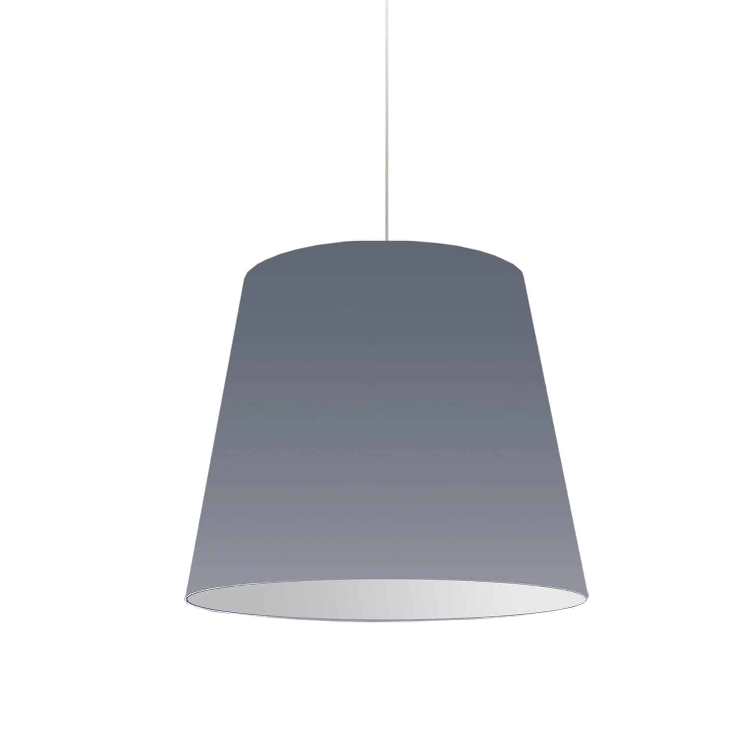 1 Light Oversized Drum Pendant Medium Grey Shade