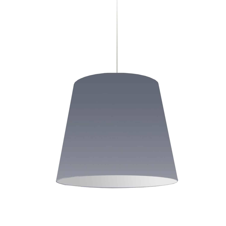 1 Light Oversized Drum Pendant Medium Grey Shade