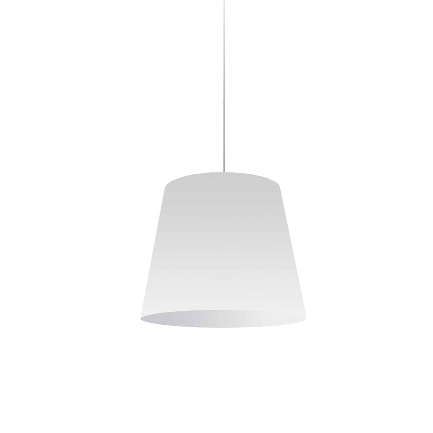1 Light Oversized Drum Pendant Small White Shade