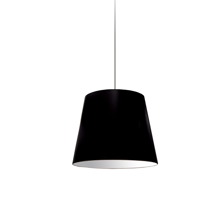 1 Light Oversized Drum Pendant Small Black Shade