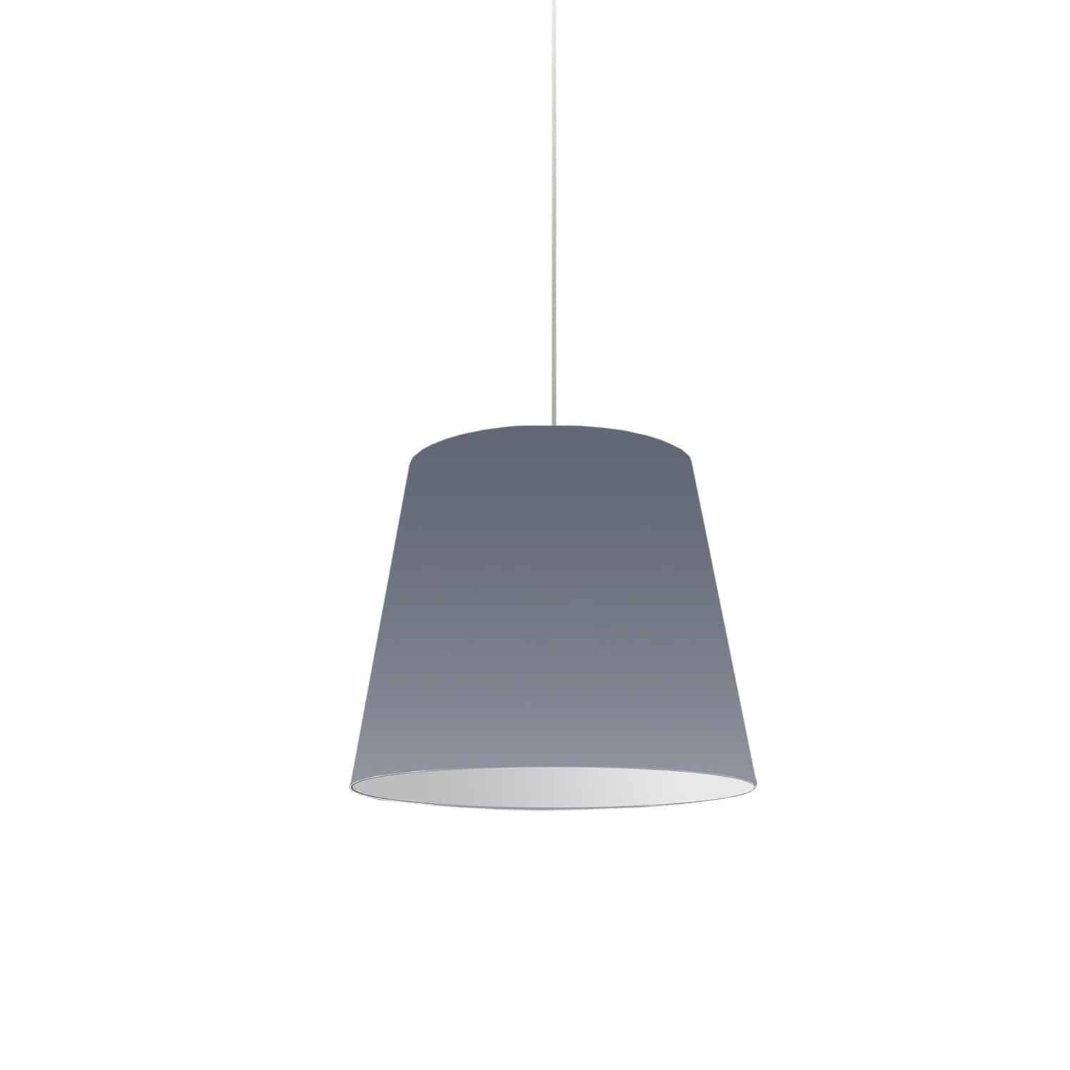 1 Light Oversized Drum Pendant Small Grey Shade