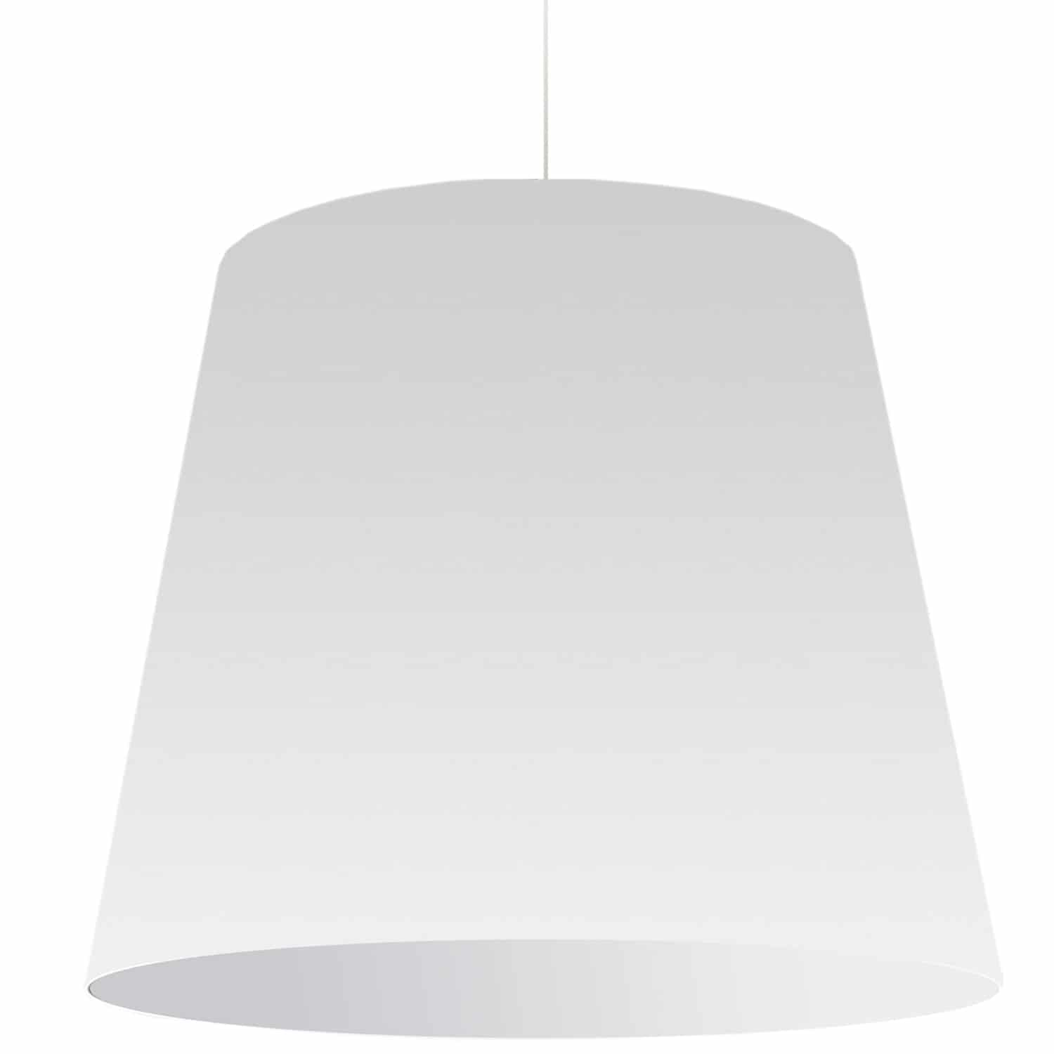 1 Light Oversized Drum Pendant X-Large White Shade