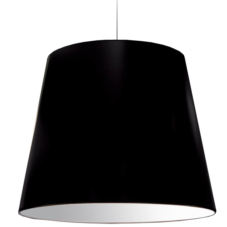 1 Light Oversized Drum Pendant X-Large Black Shade