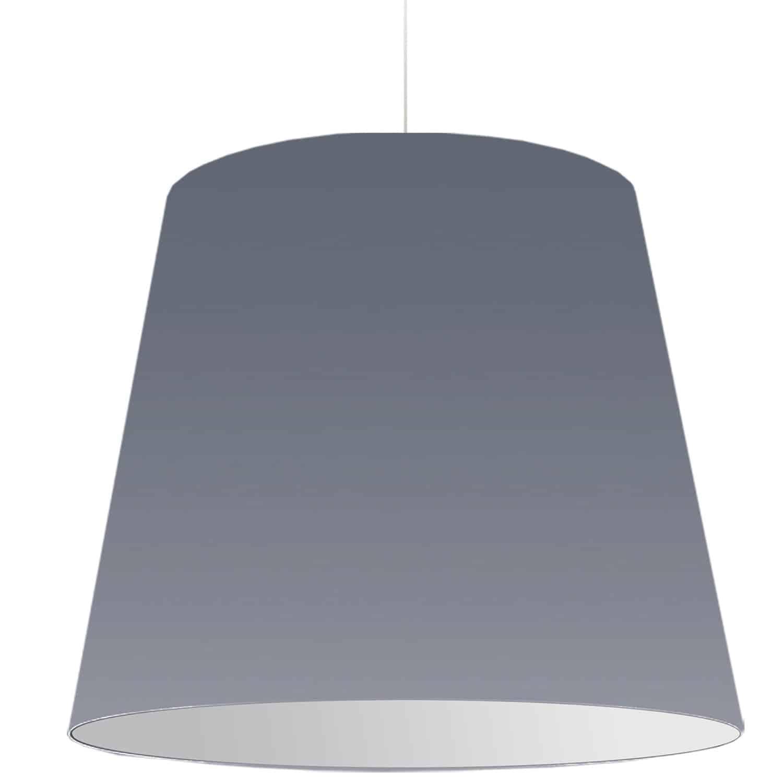 1 Light Oversized Drum Pendant X-Large Grey Shade