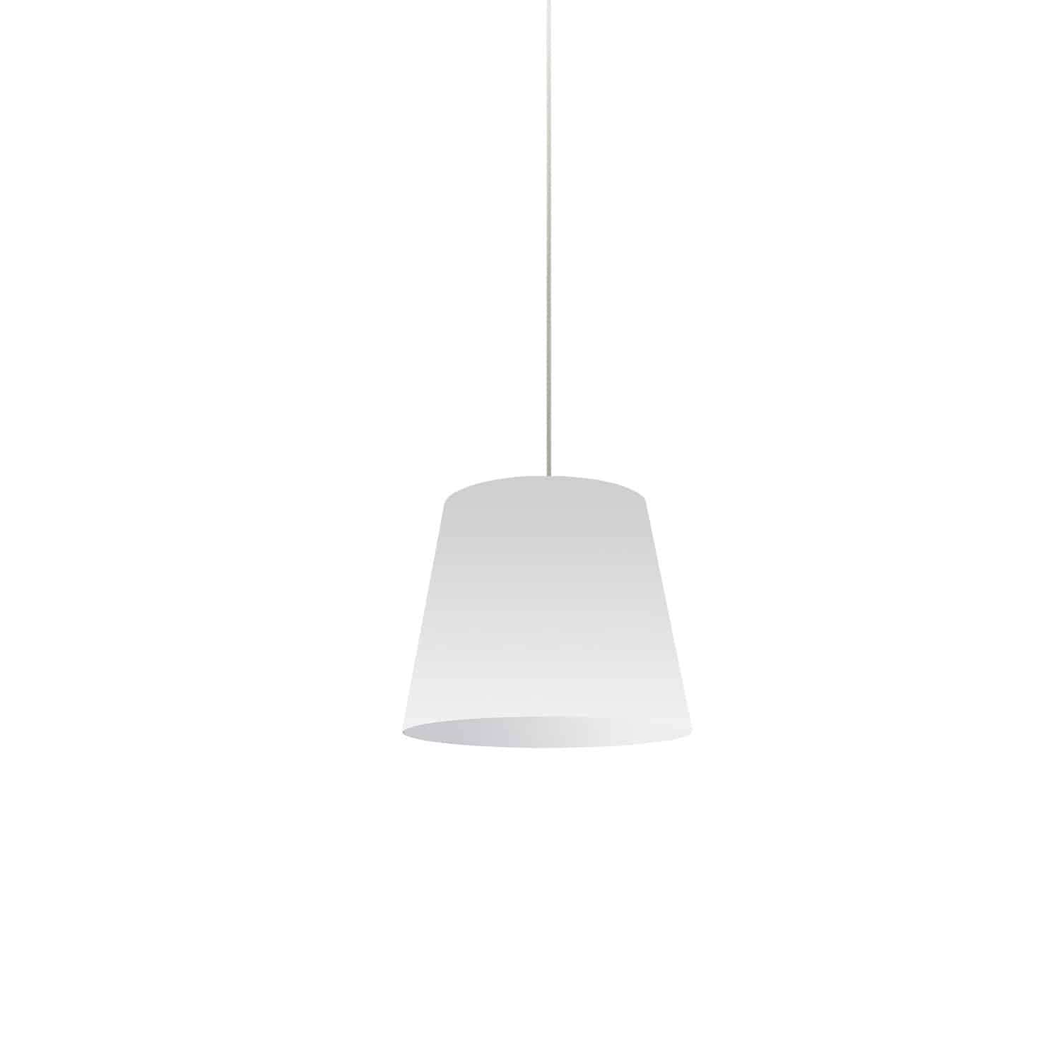 1 Light Oversized Drum Pendant X-Small White Shade