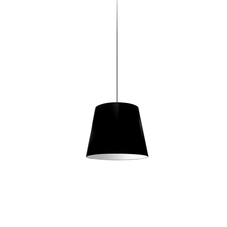 1 Light Oversized Drum Pendant X-Small Black Shade