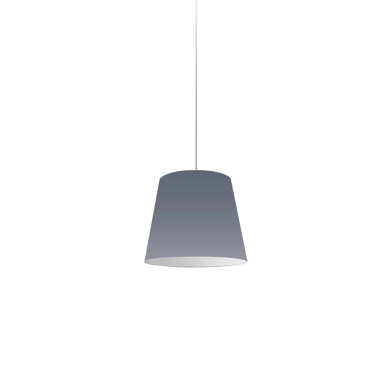 1 Light Oversized Drum Pendant X-Small Grey Shade
