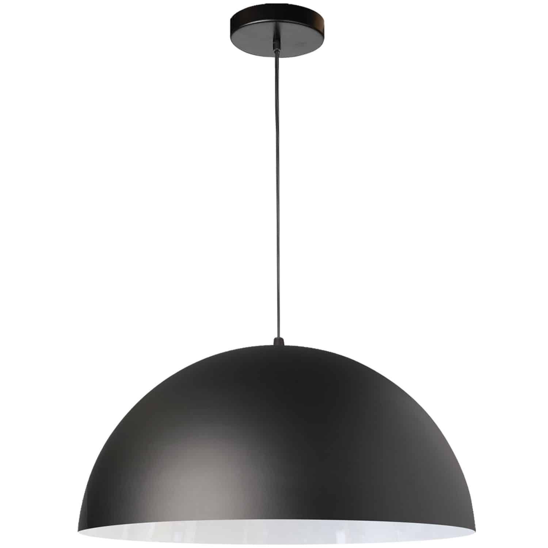 1 Light Incandescent Small Dome Pendant, Matte Black