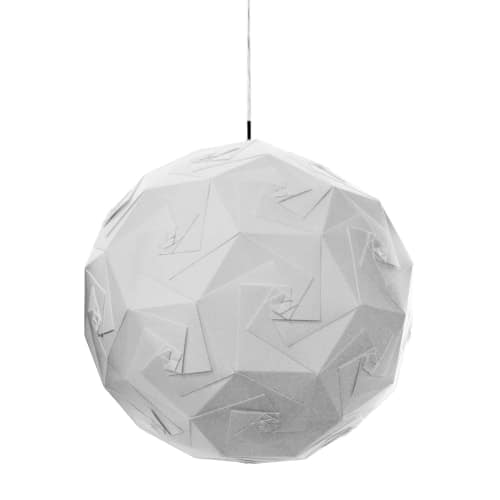 1 Light Origami Pendant JTone White White