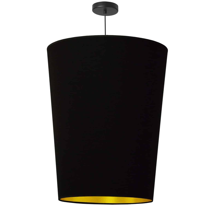 1 Light Paisley Pendant Black on Gold, Large Black