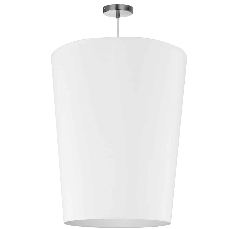 1 Light Paisley Pendant JTone White, Large Polished Chrome