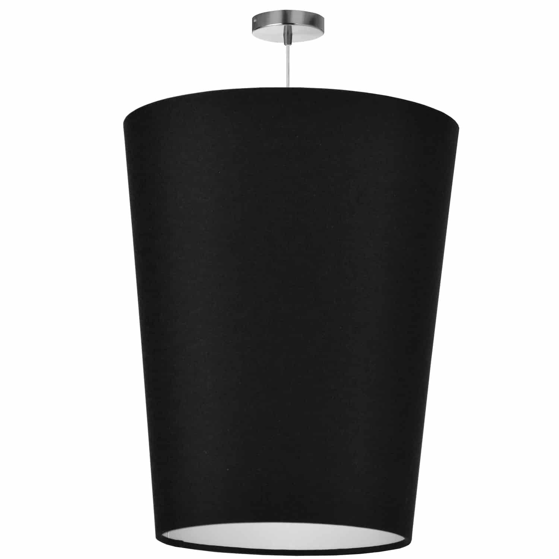 1 Light Paisley Pendant JTone Black, Large Polished Chrome