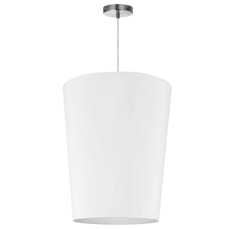 1 Light Paisley Pendant JTone White, Medium Polished Chrome