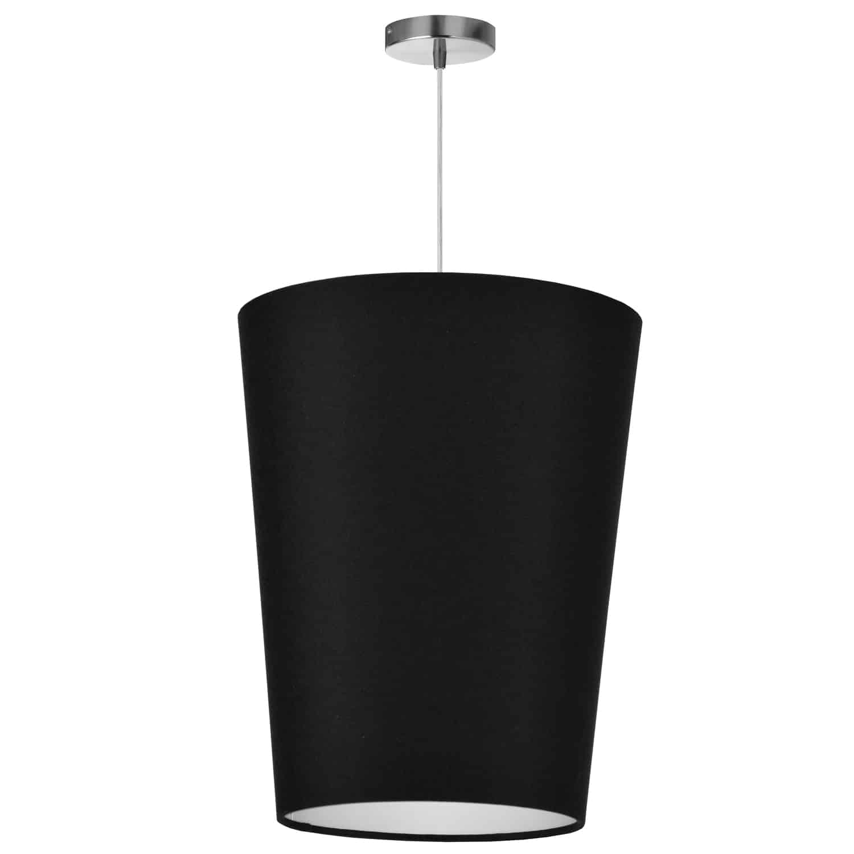 1 Light Paisley Pendant JTone Black, Medium Polished Chrome