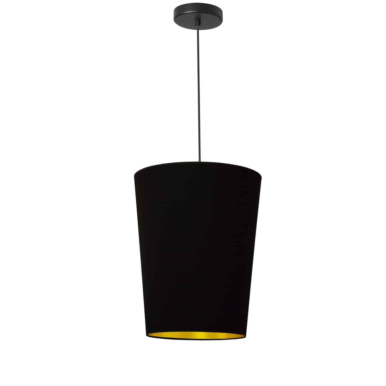 1 Light Paisley Pendant Black on Gold, Small Black