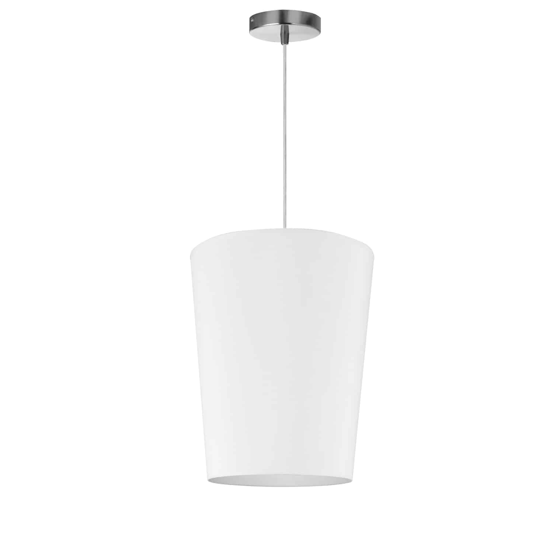 1 Light Paisley Pendant JTone White, Small Polished Chrome