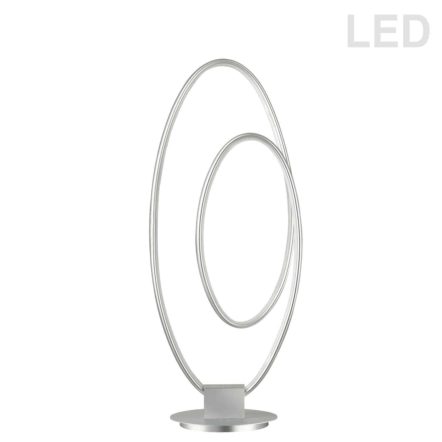 30W LED Table Lamp, Silver