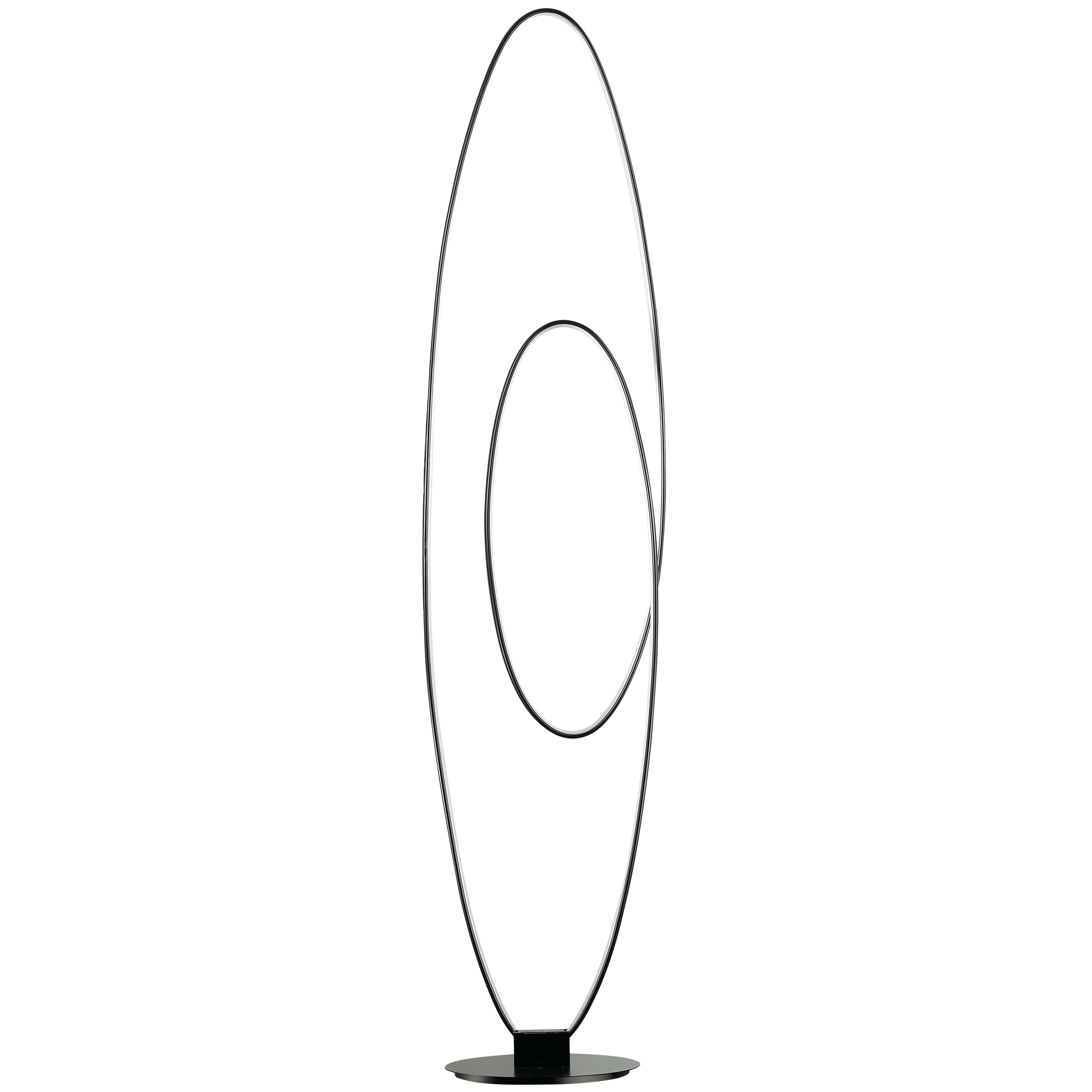 60W LED Floor Lamp, Matte Black