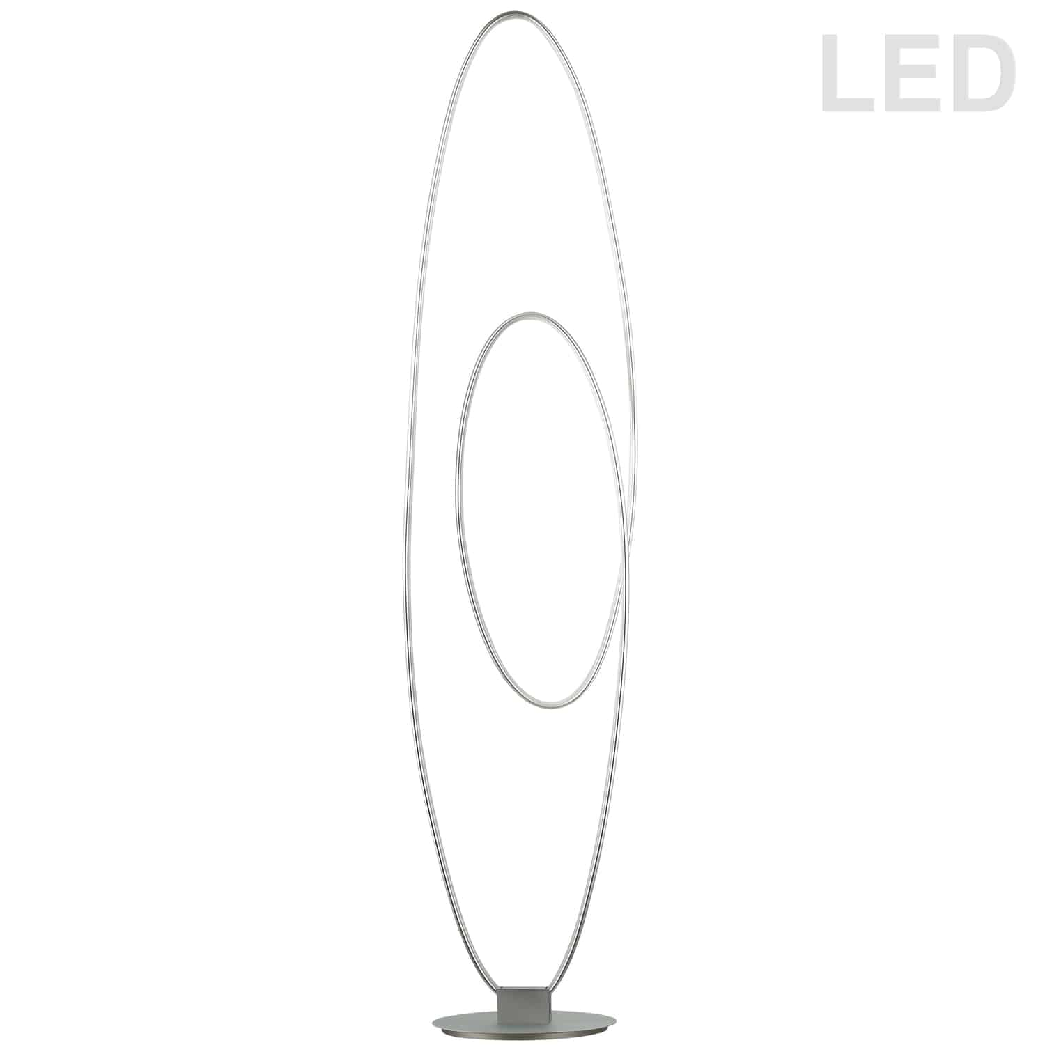 60W LED Floor Lamp, Silver