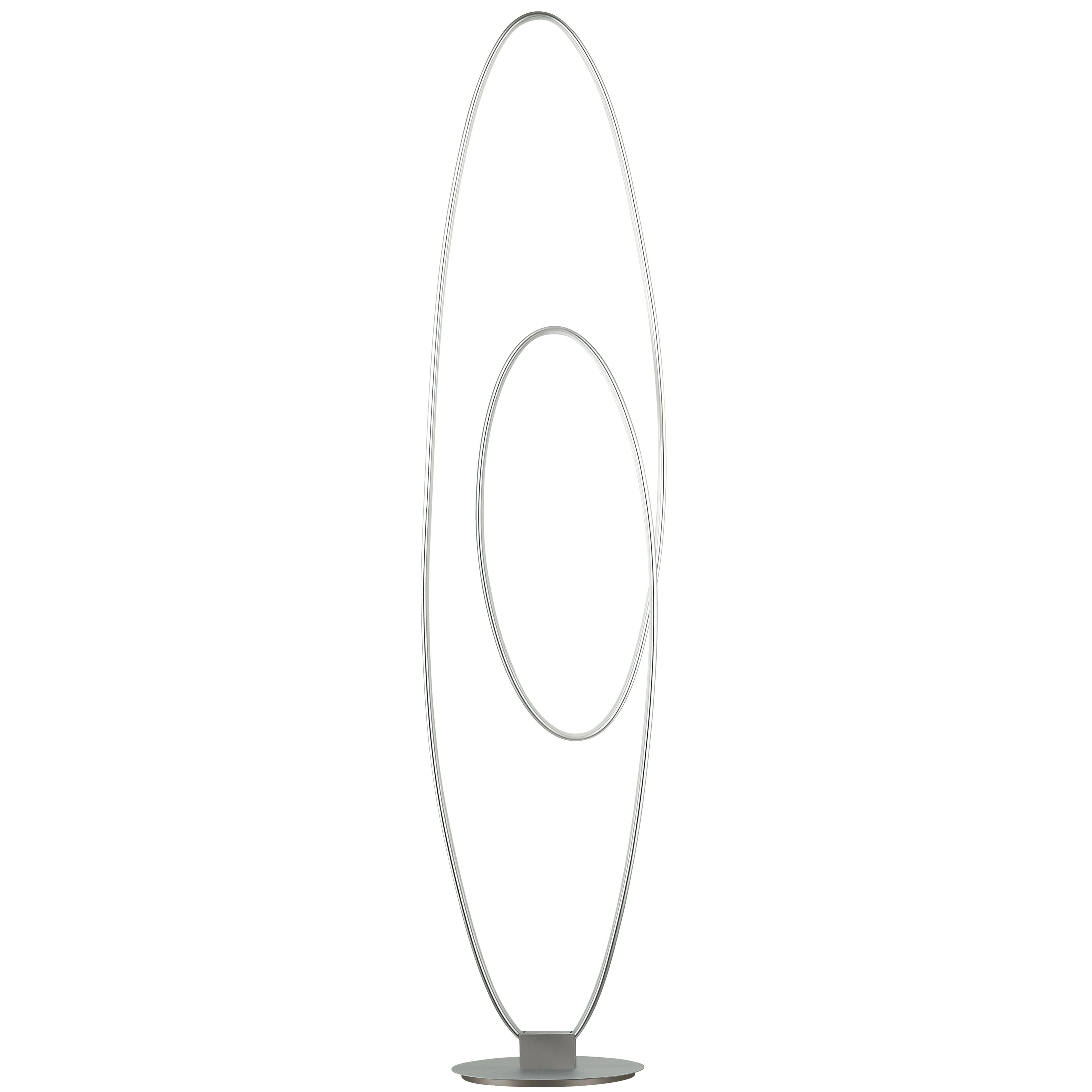 60W LED Floor Lamp, Silver