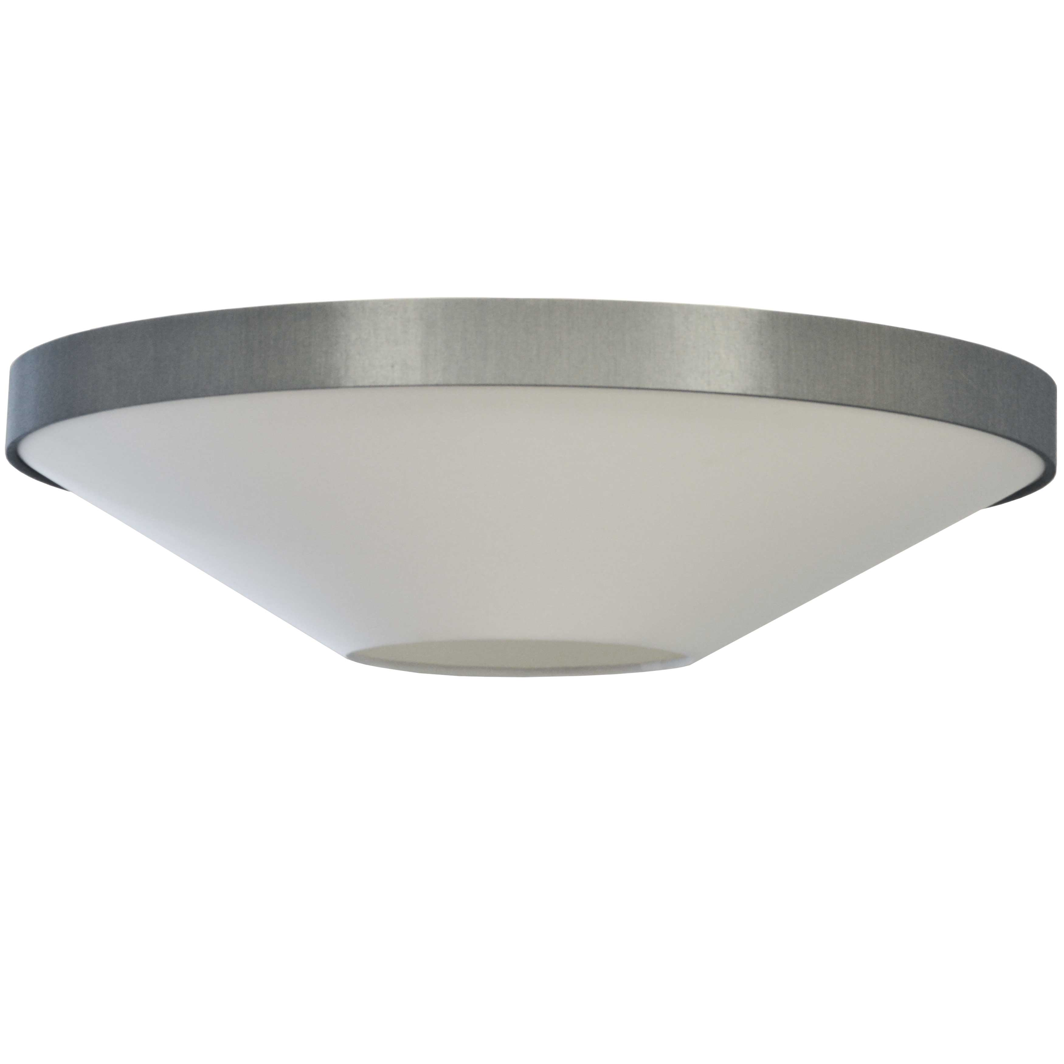 4LT Incandescent Flush Mount, PC w/ GRY & WH Shade