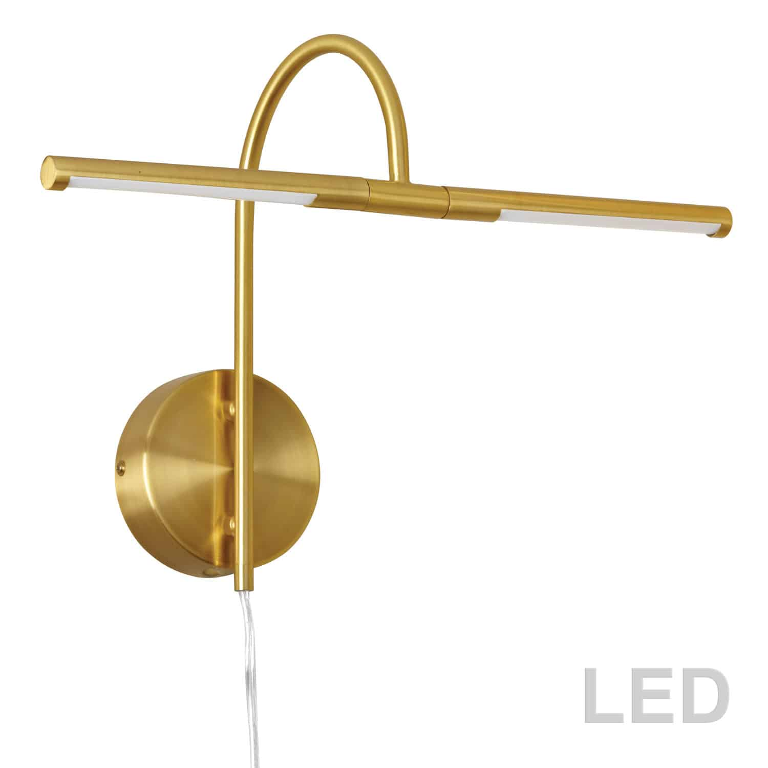 6W LED Picture Light Aged Brass Finish