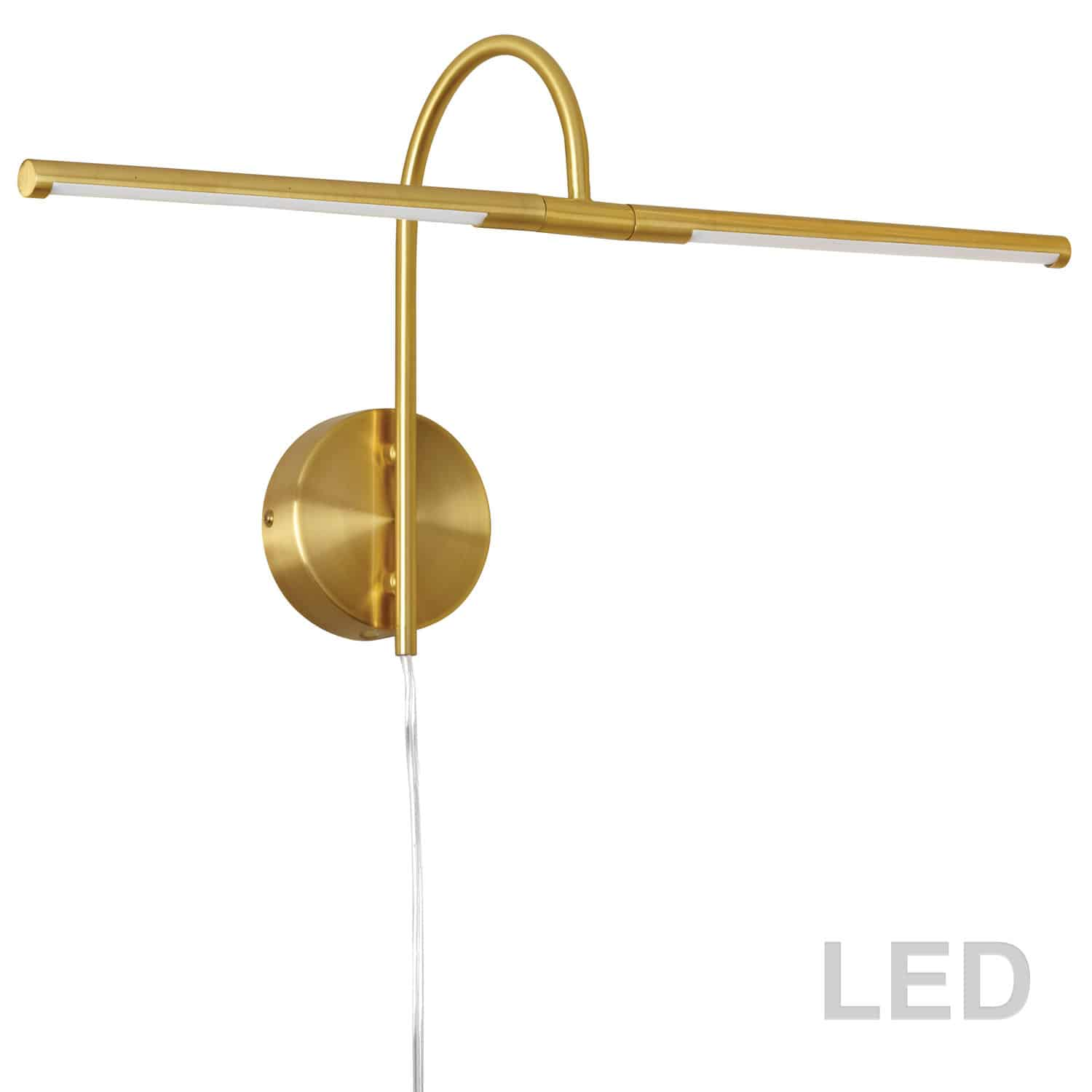 10W LED Picture Light Aged Brass Finish