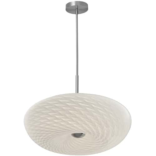 LED Pendant with Mackerel Glass